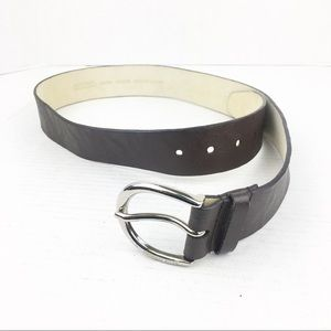 SZ Medium Michael Kors Brown Logo Leather Belt